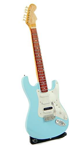 Guitarra en miniatura decorativa de guitarra eléctrica Fender Stratocaster 24 cm azul #188