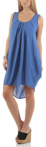 malito base Verano-Robe Maxi Oversize 1120 Femme Taille Unique Bleu