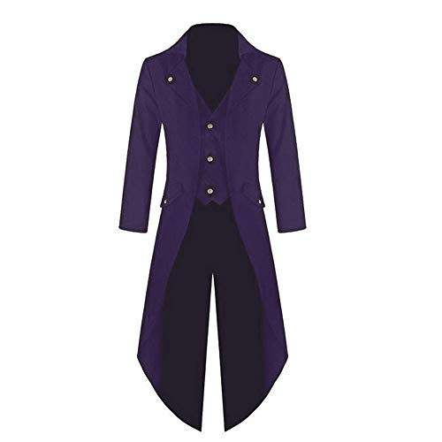 Frack Jacke Gotisches Kleid Mantel Einheitliches Kostüm Party Oberbekleidung Oberteile Outwear(Large,Lila) ()