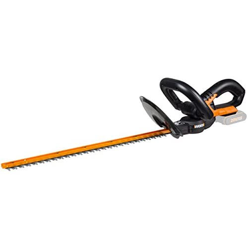 Worx wg259e.9 Battery 20 V/Garden Shears Hedge Shears with Low Vibration for Precision Work/Hedge Cutters with Protective Sleeve – No Battery/Charger