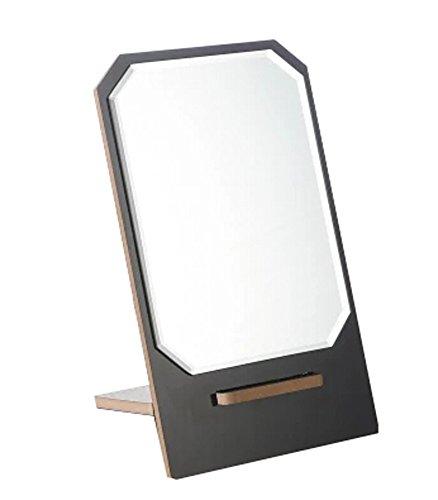 Black Temptation Hölzerner Spiegel Einseitiger Eitelkeitsspiegel Tischplatten-Make-up-Spiegel 5,90