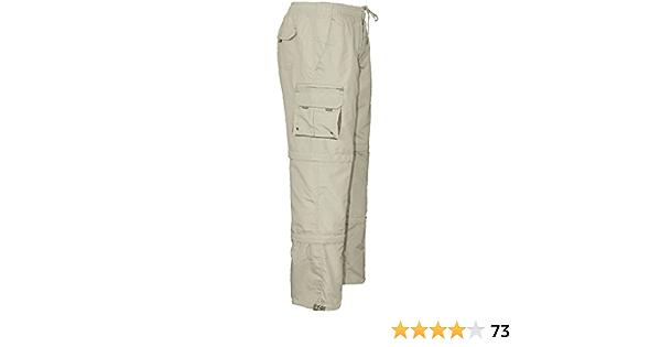 Men/'s 3//4 Trousers Zip Off into Cargo Combat Shorts Elasticated Waist Zip Pocket