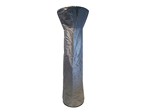 Traedgard Heizstrahler California Edelstahl mit Glasröhre, Höhe 185 cm inkl. Rollenset, Schutzhülle und Gastroset - 8