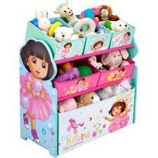 Dora the Explorer - Multi-Bin Toy Organizer hot new design from 2014 by dora (Multi Bin Toy Organizer)