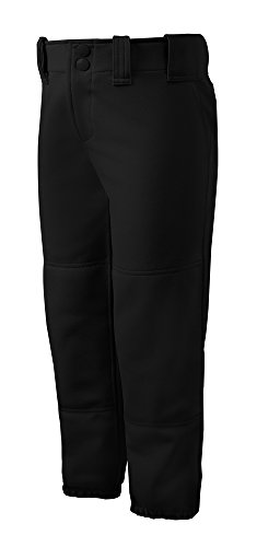 Mizuno Select Belted Low Rise Fastpitch Softball Pants, Black Medium (Low-rise-uniform)