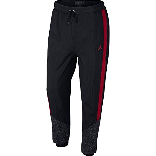 Nike Herren Diamond Cement Pant, Black/Gym red, L (Herren-jordan Jogginghose)