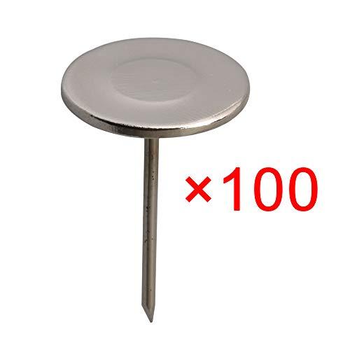 19x30mm Metall Runder Flachkopf Silber Polster Nägel Dekorative Tack für Haus Büro Appliance Pack von 100 stück -