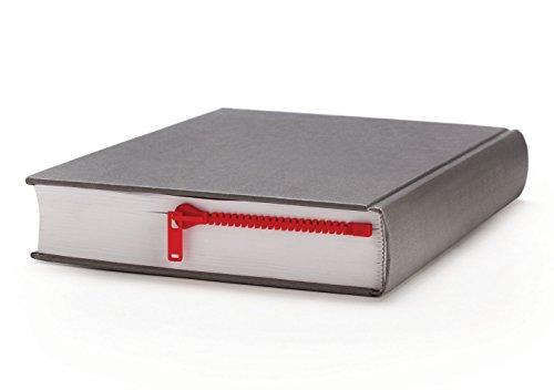 Marcador de libros cremallera - rojo