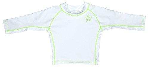 iplay Langarm Badeshirt UV-Schutz 50+ Rushgard 18 Monate weiß grün