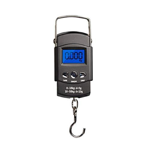 Mikiya Elektronische Handwaage, 50 kg, Mini-Tasche, Digitale Präzisionswaage für die Fischerei