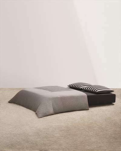 Calvin Klein Home Modern Cotton Tyson Duvet Full/Queen, Cream/Charcoal/Heather Grey