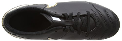 Nike Tiempo Rio Iii FG, Chaussures de Football Compétition Mixte Enfant, UK Noir (Black/white/metallic Gold)