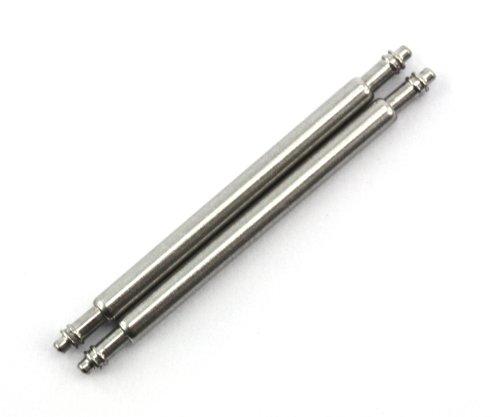 21mm X 1.8mm Barretta a Molla per Cinturino in Acciaio Inossidabile per Attaccare il Cinturino ad Orologi e Fibbie (Set da Due)