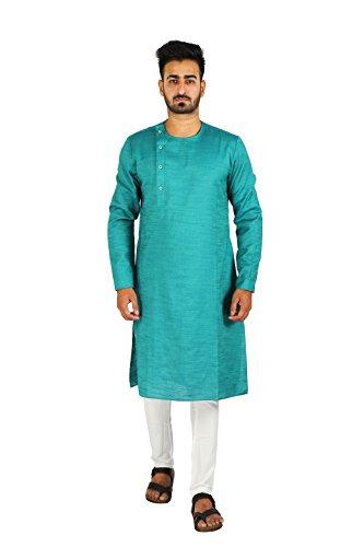 Thaath Men's Designer Green Ethnic Kurta & Churidar Set