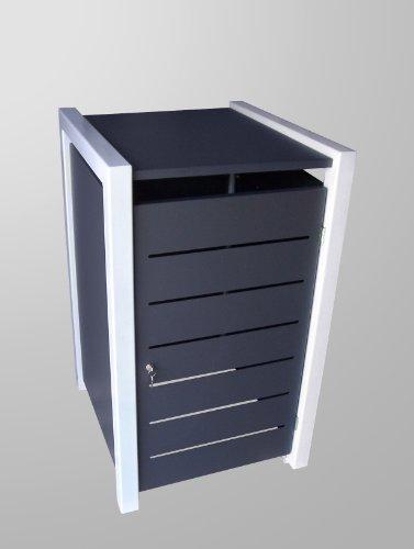 Mülltonnenbox Malone Line Duo für drei 120 Liter Tonnen, als Durchreicher, d.h. Türen auch hinten - 3