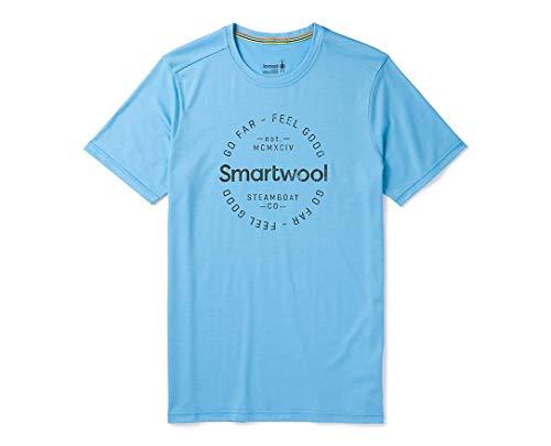 Smartwool Herren Merino Sport 150 Go Far Feel Good Tee T-Shirt, Geyser Blue, XL
