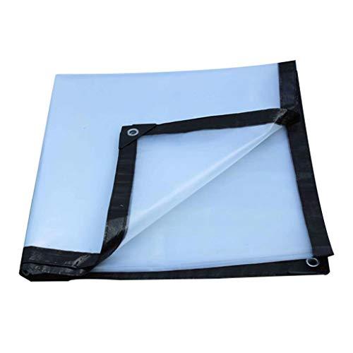 HU Transparente Plane Regenfestes Tuch Dicker Kunststoff Tuch Visier Regenplane Außerhalb Wasserdichte Plane (größe : 6x4m)