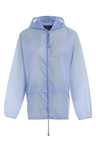 Regenjacke, unisex, mit Kapuze, für Erwachsene Gr. XXL, hellblau Nylon-winter-parka