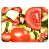 Leckere Tomaten Salatgurken & Salad Kopfsalat hochwertiges Gummi Mauspad mit weicher Oberfläche