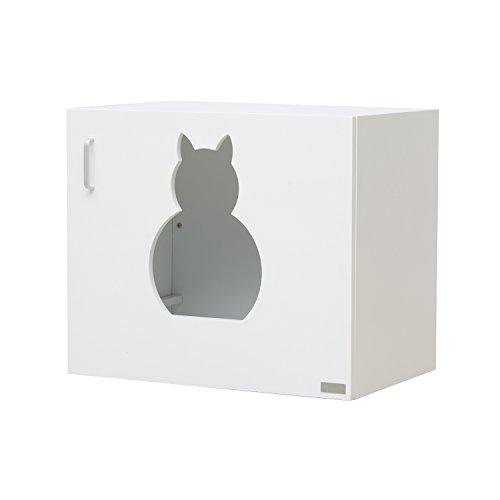 *PawHut® Katzenhöhle Katzenhaus Katzenschrank Versteck und Abdeckung für Katzentoilette Katzenklo*