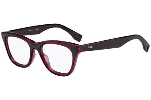 Fendi FF0197 Brillen 49-18-145 Burgund Mit Demonstrations Gläsern FF 0197