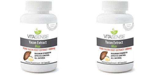 double-pack-pack-of-2-vitasense-racine-yacon-1000mg-max-60-gelules-sucre-et-diete-controle-du-poids