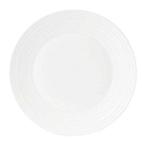 Wedgwood Bone China Dinner Plate Swirl, 11, White by Wedgwood Wedgwood White Dinner Plate