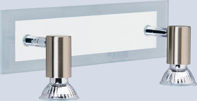 Briloner Leuchten Badlampe, Wandleuchte, 2x GU10 / 50W, chrom IP23 2141-022 von Briloner Leuchten - Lampenhans.de