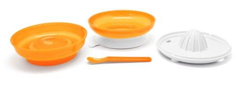 Nuvita 1465 Pappafacile 4-in-1 Set Pappa Multi-Uso, Arancione