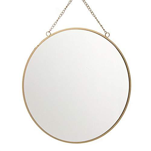 Eideo Home Espejo Redondo Oro 25 cm