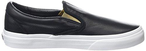 Vans Classic Slip-On, Baskets Basses Mixte Adulte Noir (Metallic Gore black/gold)