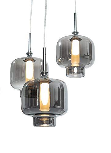 Hängeleuchte Vitrea chrom inkl. LEDs (Pendelleuchte Hängelampe Deckenlampe Pendellampe Deckenleuchte)