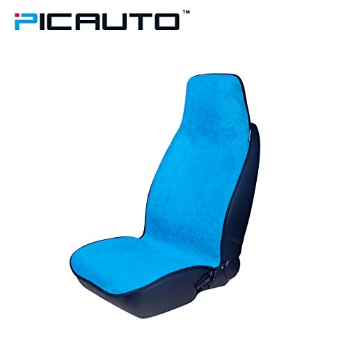 PIC AUTO Waterproof Sweat Towel Seat Cover for Crossfit Yoga Running Beach Gym Fitness Athletes (LBlue)