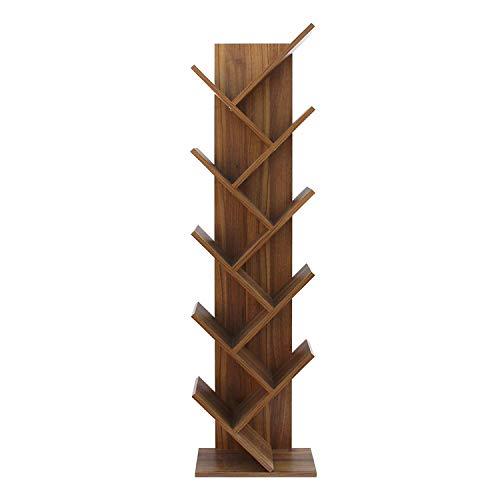 Rebecca Mobili Libreria marrone, scaffale 10 ripiani, legno, stile contemporaneo, ufficio salotto - Misure: 160 x 44,5 x 22cm (HxLxP) - Art. RE6029