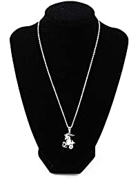 73ce12ae8643 ZUXIANWANG Collar Colgante Collar de Acero Inoxidable de Capricornio