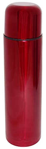 Hovac 210142 Bouteille Isotherme Inox Rouge 1 L