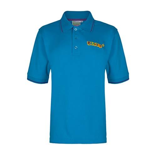 Scout Uniform Shirt (Scout Beaver Polo-Shirt mit Spitze-Offizielles Lizenzprodukt, Blau 30)