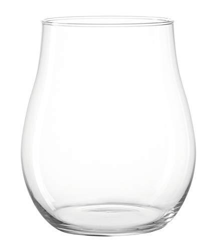 Leonardo Giardino Windlicht, Höhe 27 cm, Durchmesser 23 cm, handgefertigtes Klarglas, 010254