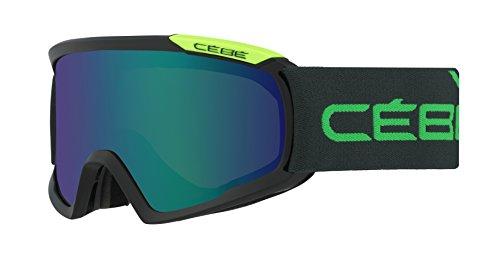 Cébé Skibrille Fanatic Black/Green/Brown/Flash Blue, L, CBG97