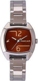 31vk0ZzbspL - Fastrack Women Brown Stainleess Steel Strap watch