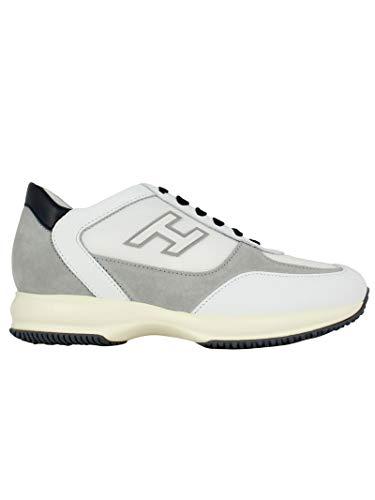Hogan Sneakers Uomo Hxm00n0q102kdy489q Pelle Bianco