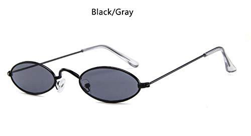 Sonnenbrille Rote, Ovale Brille Metall'S Fashion Männer Runde Sonnenbrille Style Kleine Hip Hop Schmale Gläser Trends Weiblichen Sonnenbrille Schwarz