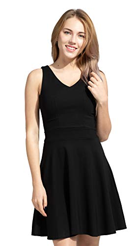 Sconosciuto Héloïse de SY - The Little Black Dress Specialist - Vestito - Linea ad a - Donna Nero Nero