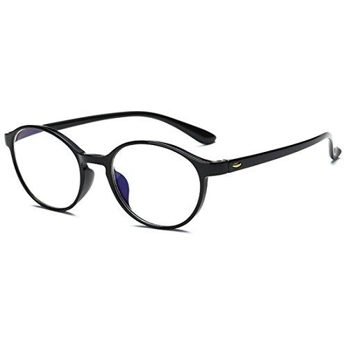 VEVESMUNDO® Lesebrillen Anti blaulicht Damen Herren Computer Lesebrille Augenoptik Flexibel Lesehilfe Sehhilfe Arbeitsplatzbrille Anti Blue Rays Leser Brille Schwarz Leopard (SCHWARZ, 1.75)