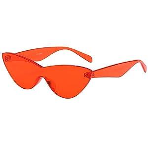 Battnot Siamesische Sonnenbrillen für Damen Herren, Katzenaugen Form Solide Rahmen Unisex Vintage Mode Anti-UV Gläser…