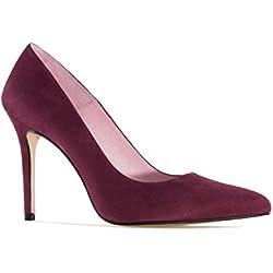 Zapato Tacón de Ante Vino.32