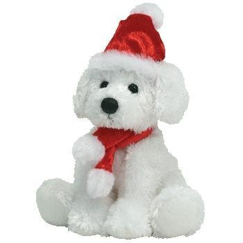 TY Beanie Baby - PUPPY CLAUS the Dog (BBOM December 2007) by Ty Beanie Baby