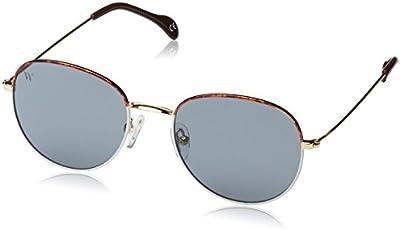 Wolfnoir, AKELA BICOME BLANHALF - Gafas De Sol unisex color blanco/marrón/azul, talla única