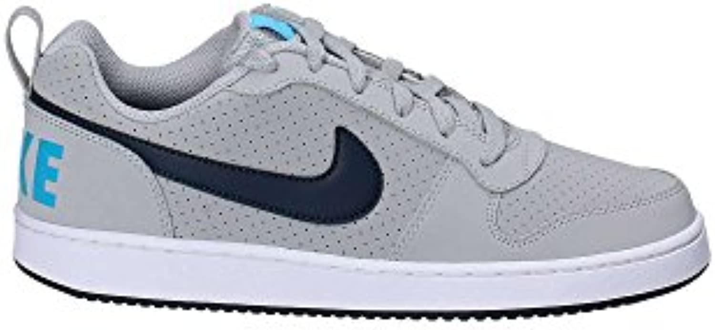 Nike Court Borough Low - Zapatillas Deportivas, Hombre, Gris - (Wolf Grey/Armory Navy-Blue Fury-White)