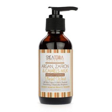 Argan, Zafron & Camels Milk Brightening Facial Wash (4 Oz.) by Shea Terra Organics